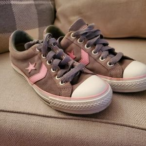 Converse pink and grey womens classic